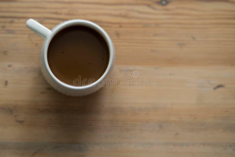 Xícara de café branca pequena imagens de stock royalty free