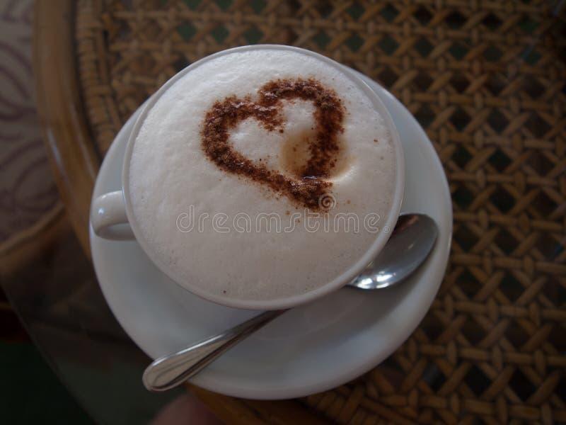 Xícara de café com amor foto de stock