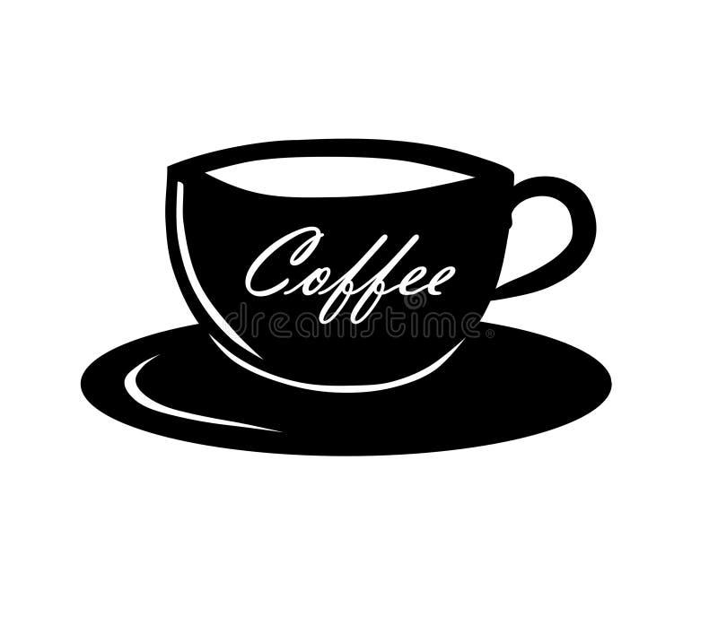 Xícara de café do vetor. ilustração stock