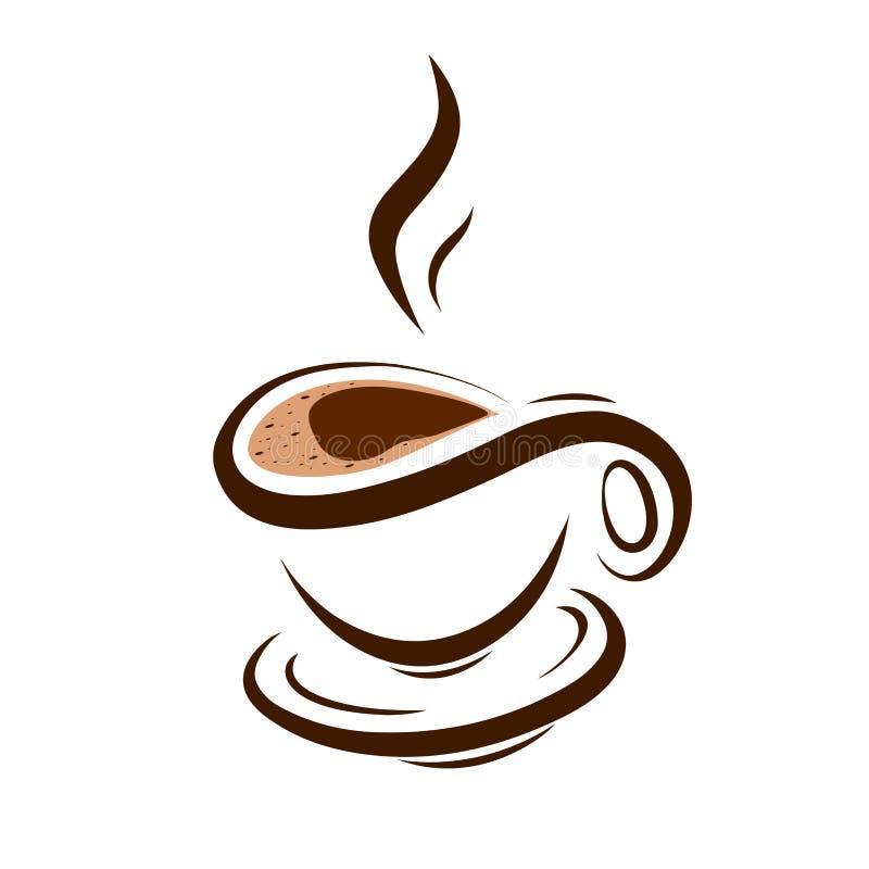 Xícara de café simbólica da ilustração conservada em estoque ilustração stock