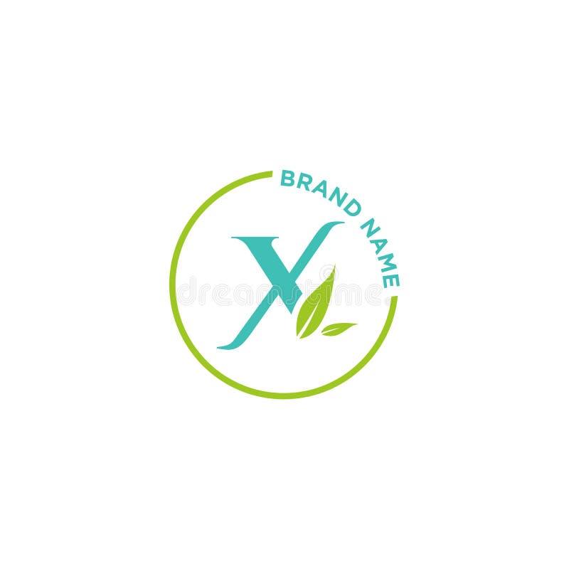 X信件商标或最初事务的 向量例证