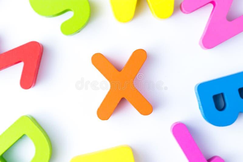 x信件用英语 库存照片