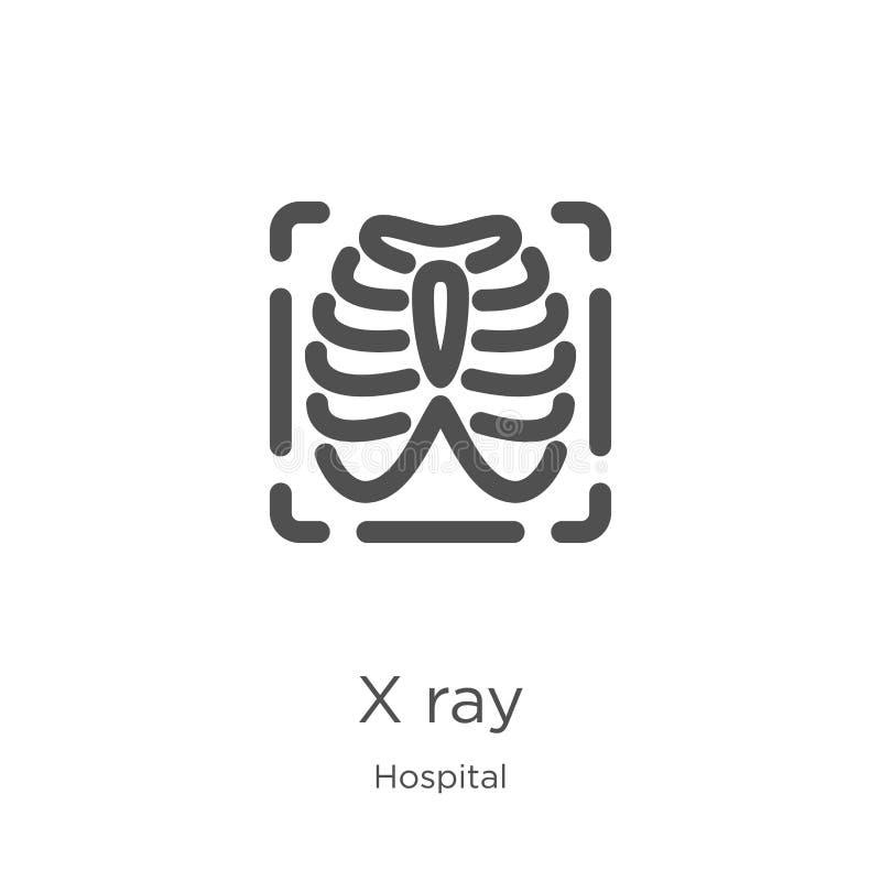 x光芒从医院汇集的象传染媒介 稀薄的线x光芒概述象传染媒介例证 概述,稀薄的线x光芒象为 向量例证
