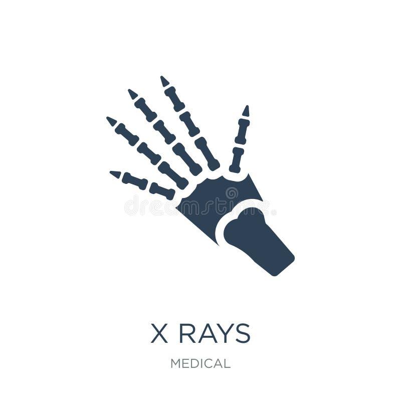x发出光线在时髦设计样式的象 x发出光线在白色背景隔绝的象 x发出光线传染媒介象简单和现代平的标志为 库存例证
