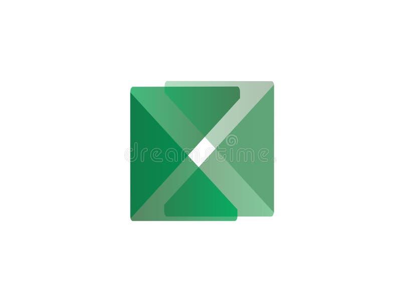 X商标设计传染媒介的,x象,书法标志字母表组合图案 皇族释放例证