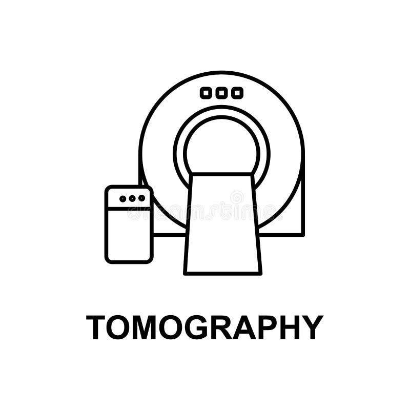 X线体层照相术加工象 治疗的元素与名字的对于流动概念和网apps 稀薄的线X线体层照相术机器象能b 库存例证