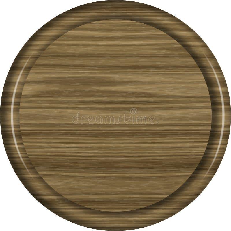 1x1 κυκλικό κενό σημαδιών ξύλων καρυδιάς στοκ φωτογραφία με δικαίωμα ελεύθερης χρήσης