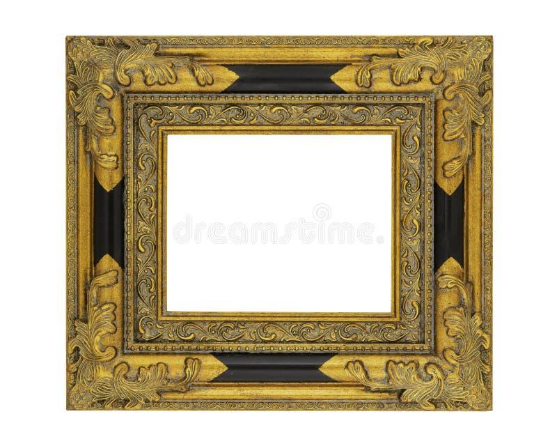 8 x 10华丽葡萄酒样式金黄框架 库存照片