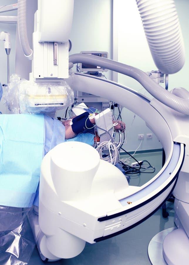 X-射线实验室。现代先进的诊所。 免版税库存图片