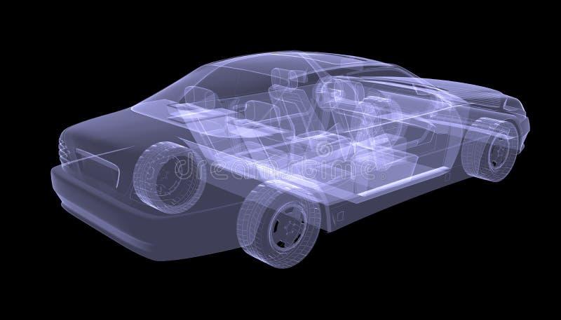 X-射线概念汽车 库存例证
