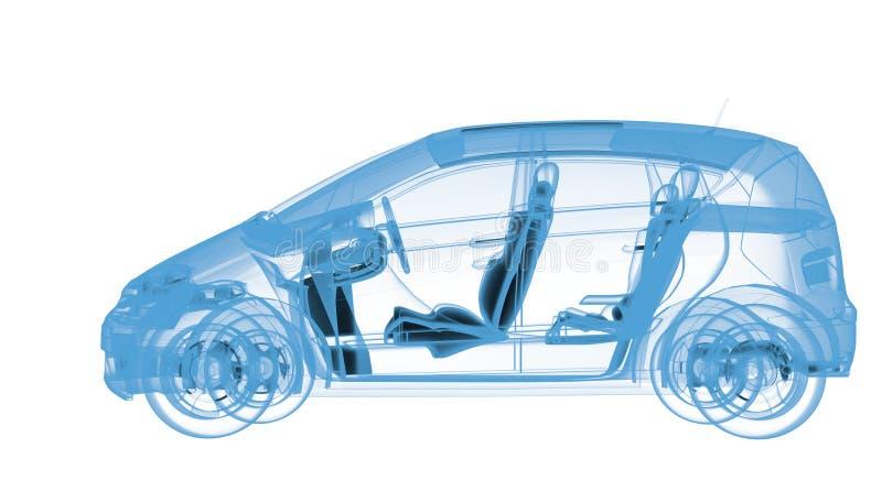 X-射线汽车 库存例证