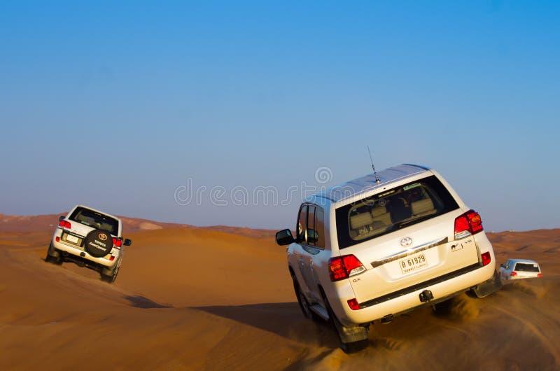 4x4沙漠冒险,迪拜 图库摄影