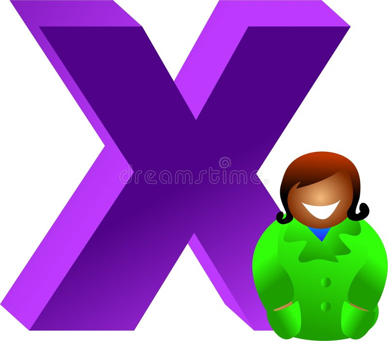 Download X stock illustrationer. Illustration av flicka, study, illustrationer - 511046