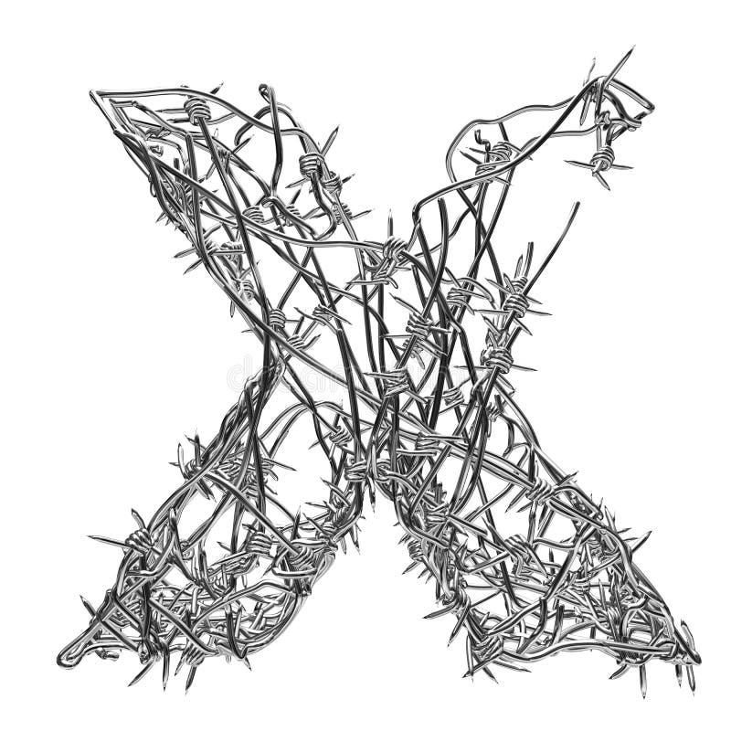 X illustration de vecteur