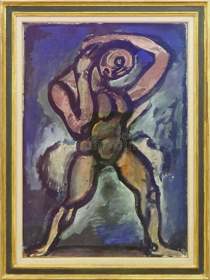 """Acrobate"", Georges Rouault, vers 1913. Centre Pompidou, Paris. stock images"