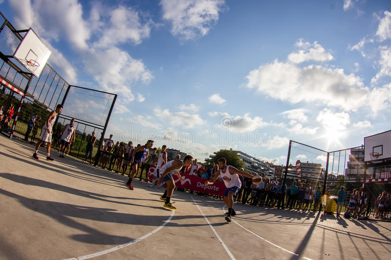 3x3 basketball match editorial stock photo. Image of dribbling - 44356573