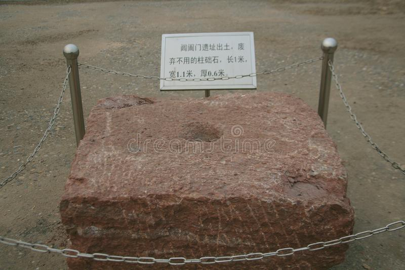 Great ruins of Luoyang. The & x22;big site& x22; mainly includes the historical and cultural information about politics, religion, military, science and royalty free stock photography