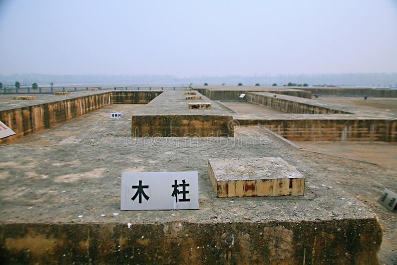 Great ruins of Luoyang. The & x22;big site& x22; mainly includes the historical and cultural information about politics, religion, military, science and stock images