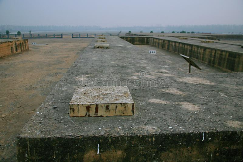 Great ruins of Luoyang. The & x22;big site& x22; mainly includes the historical and cultural information about politics, religion, military, science and stock photography