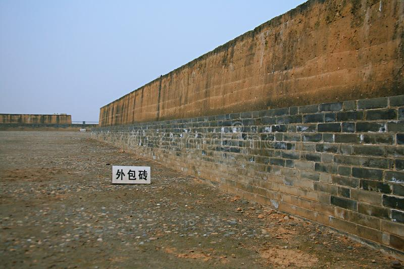Great ruins of Luoyang. The & x22;big site& x22; mainly includes the historical and cultural information about politics, religion, military, science and royalty free stock photo
