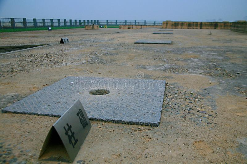 Great ruins of Luoyang. The & x22;big site& x22; mainly includes the historical and cultural information about politics, religion, military, science and stock image