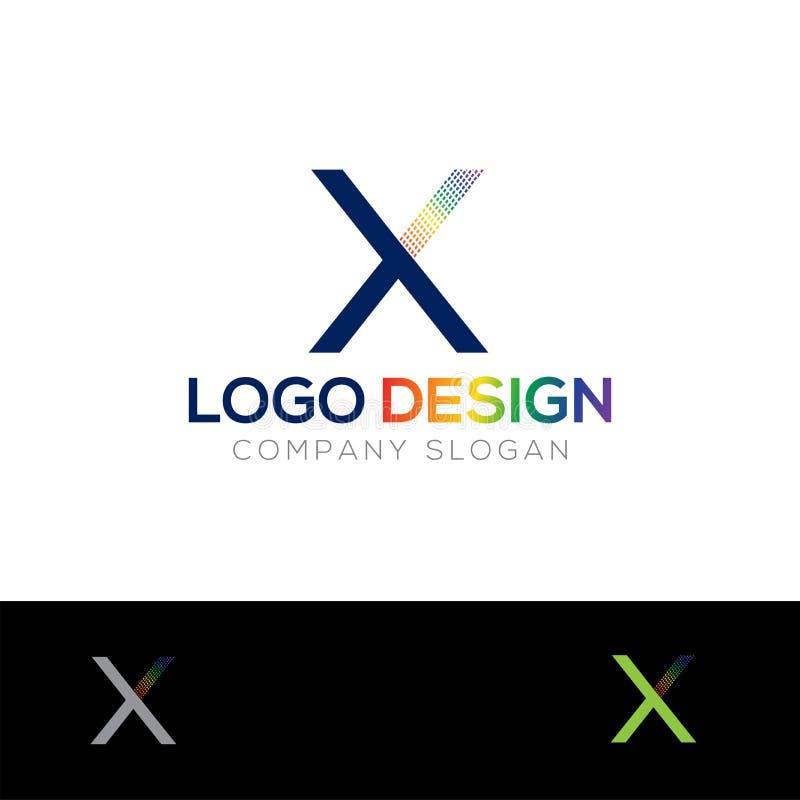 X-bokstavsLogo Design For Music Company logo royaltyfri illustrationer