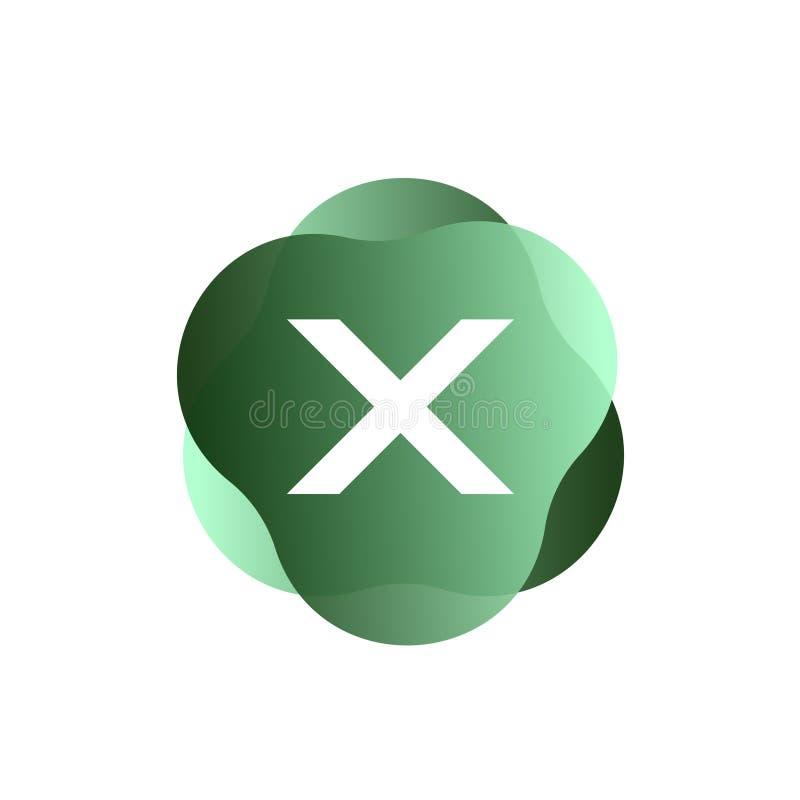 X Buchstabe-Logo vektor abbildung