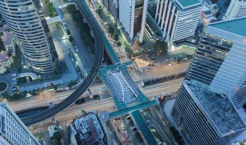 X centre de la ville croisé de Bangkok de paysage urbain, abstrait images libres de droits