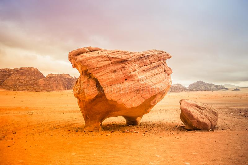 Chicken Rock, Wadi Rum Desert, Jordan stock images