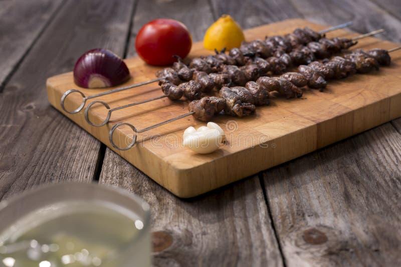 & x22; Churrasco de curacao& x22; , alimento brasileiro tradicional do assado imagem de stock