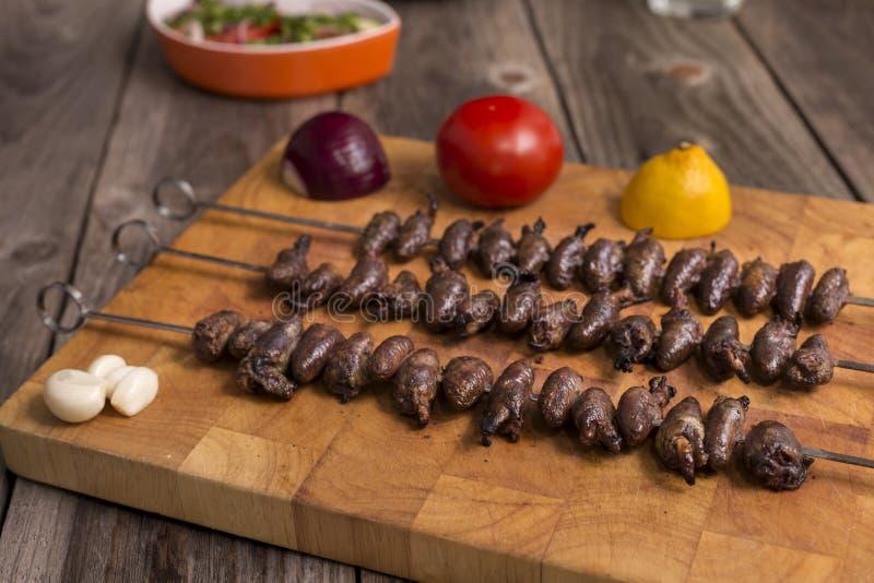 & x22; Churrasco de curacao& x22; , alimento brasileiro tradicional do assado foto de stock