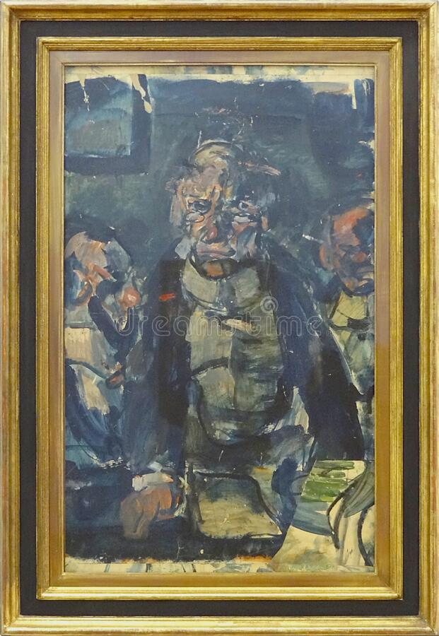 """Conférencier"", Georges Rouault, vers 1908-1910. Centre Pompidou, Paris. royalty free stock photo"