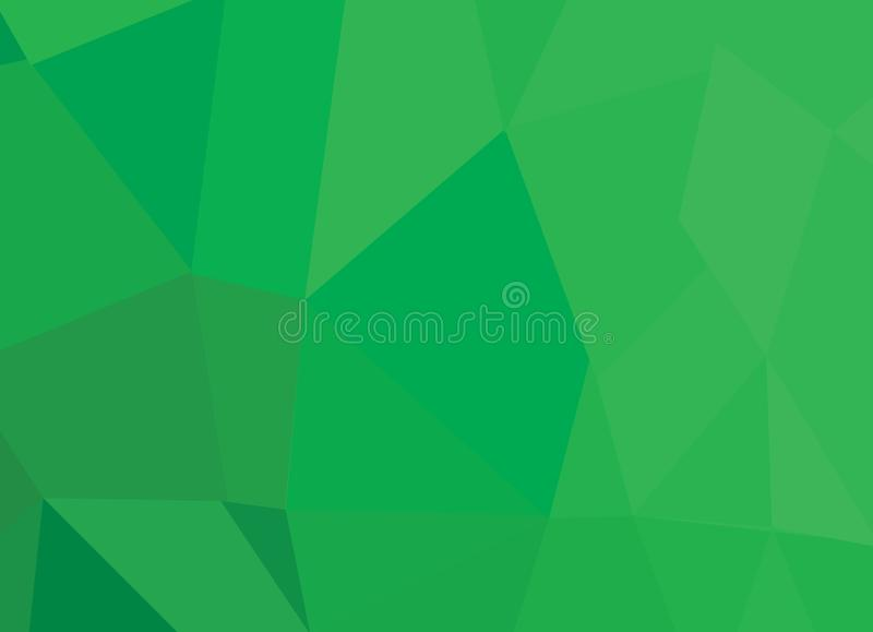 Abstract  green background with triangle shapes and diagonal line design elements stock illustration