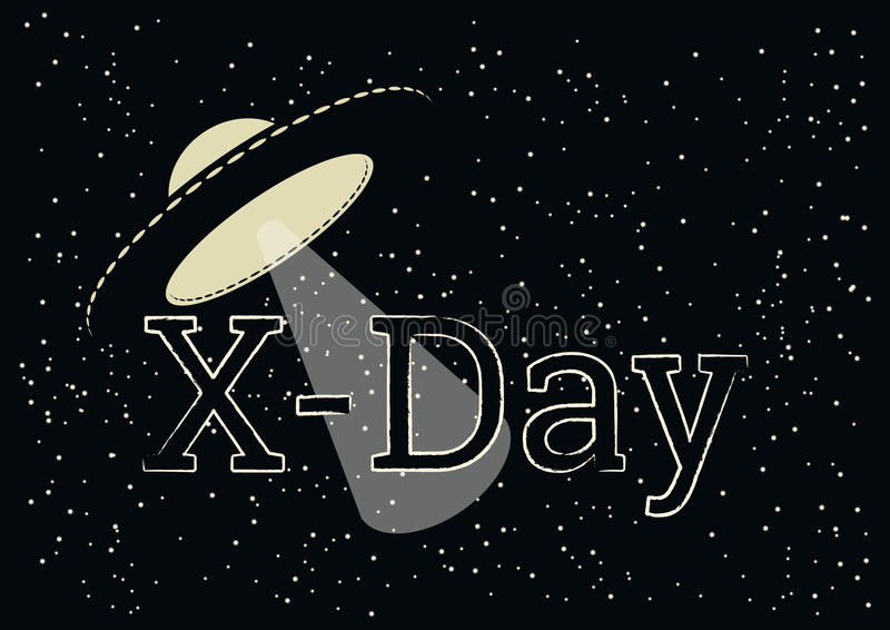 X-dag vector stock illustratie