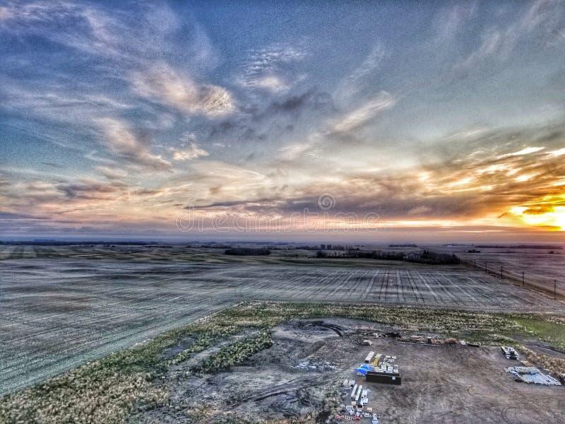 135& x27 ; dans la vue d'air de Manitoba photos libres de droits