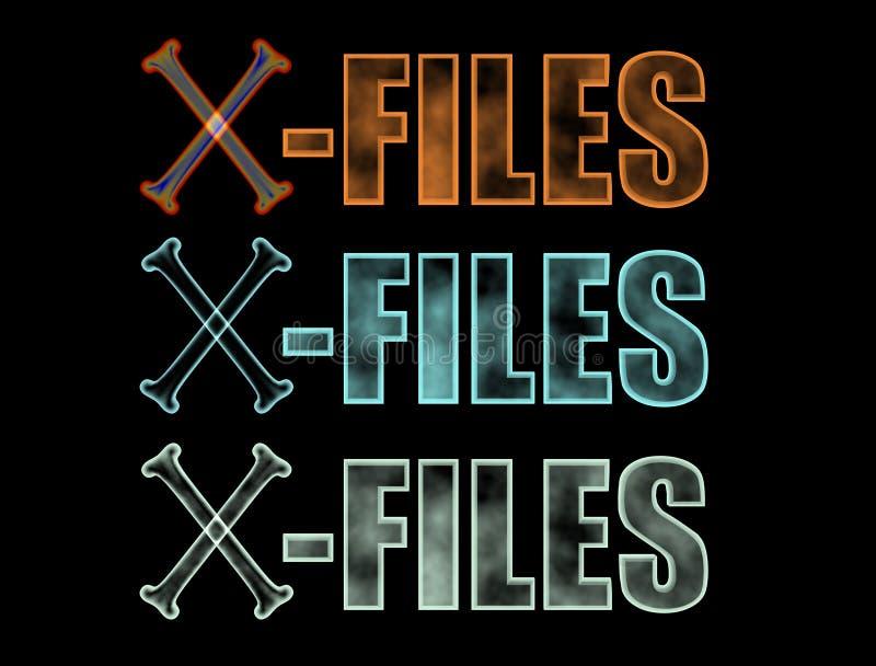 X-dossiers embleem vector illustratie