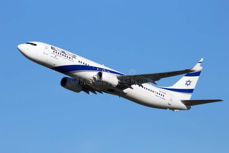 4X-EHE El Al Israel Airlines Boeing 737-958 (ER) (WL) arkivbilder