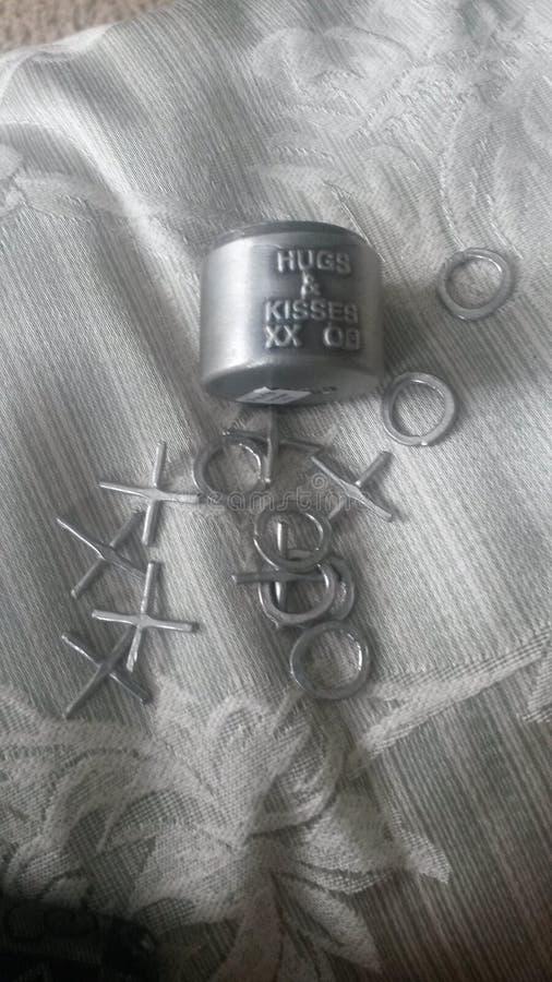 X en de omhelzingen en de kussen van o royalty-vrije stock foto