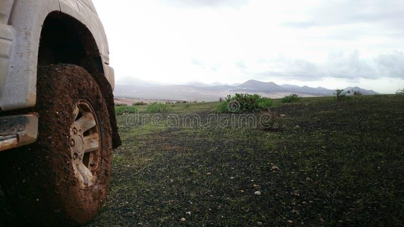 4x4 en Lanzarote fotos de archivo libres de regalías