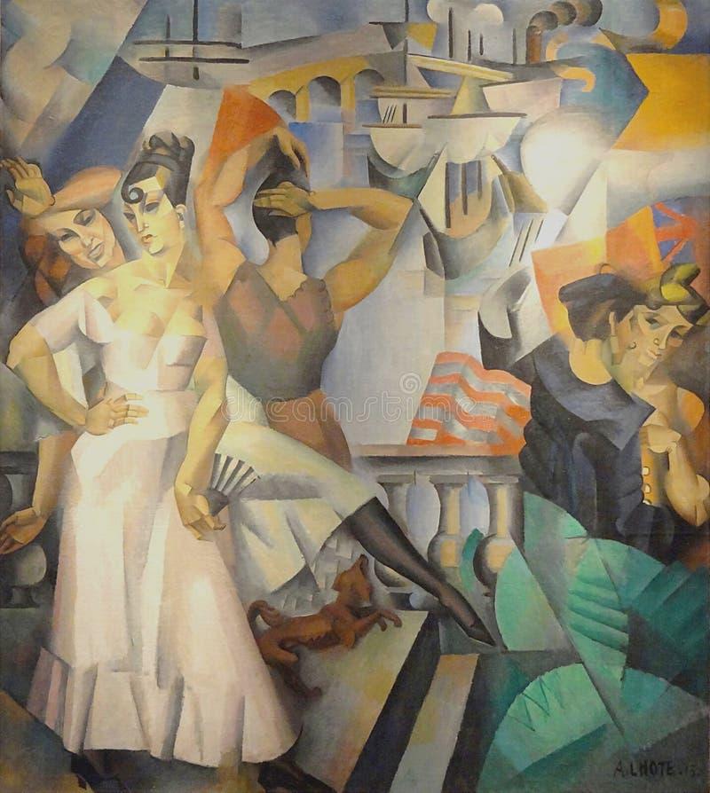 """""""Escale"""", André Lhote, 1913. Musée d'Art moderne de la ville de Paris, palais de Tokyo. stock photography"""