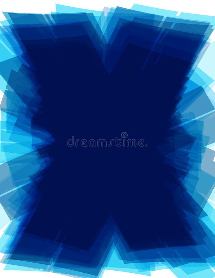 X-fond bleu avec la forme de lettre de la technologie X Configuration futuriste illustration de vecteur