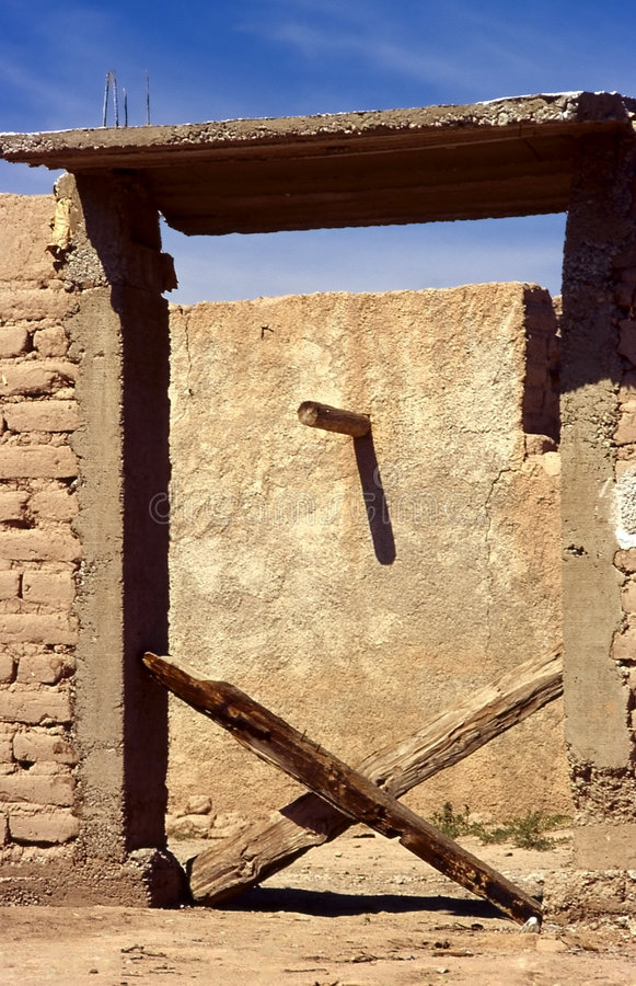 Download X gate stock image. Image of desert, marks, adobe, mexico - 1001