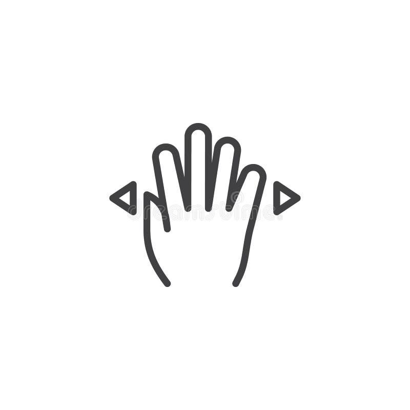 4x ha sparso la linea icona illustrazione di stock