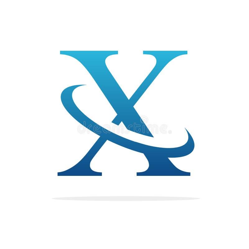 X het creatieve vectorart. van het embleemontwerp stock illustratie