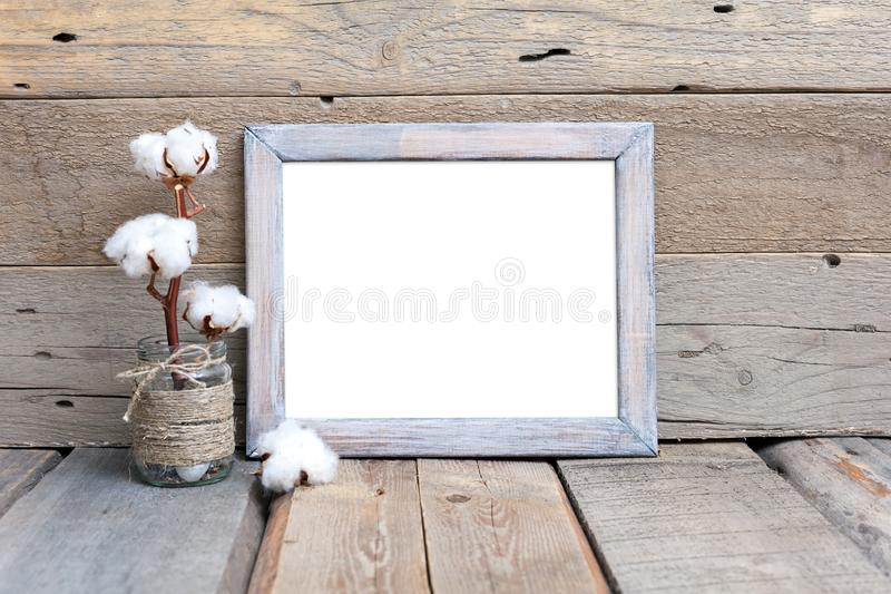 8x10 16x20 Rustic Wood Frame Mockup royalty free stock photography