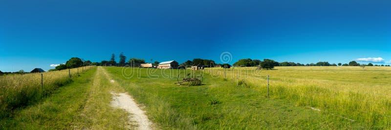 12x36 inch farm panorama stock image
