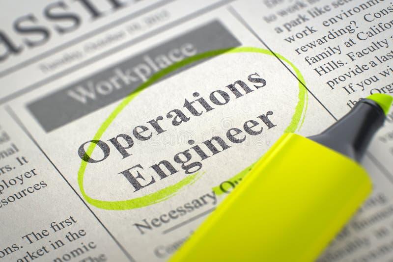 We& x27 ; ingénieur d'opérations de location re 3d illustration de vecteur