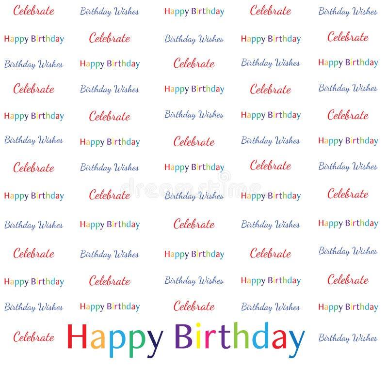 8x8 kroka powtórki sztandar - wszystkiego najlepszego z okazji urodzin Świętuje Urodzinowych życzenia royalty ilustracja