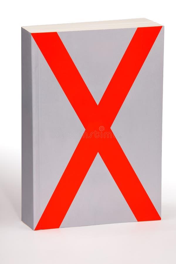 X książka - ścinek ścieżka ilustracji
