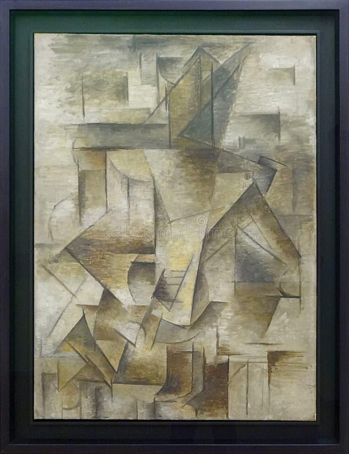"""""""le Guitariste"""", Pablo Picasso, été 1910. Centre Pompidou, Paris. Free Public Domain Cc0 Image"""